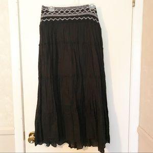 Black Maxi Skirt with waist detail size M